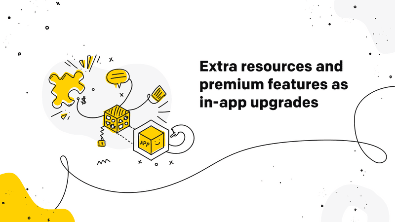 Upsell extra resources and premium features